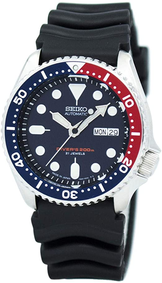 Amazon.com: Seiko Divers Automatic Blue Dial Men's Watch: Watch
