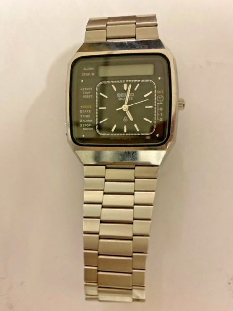 Seiko Digital Analog Dual Watch 060882 RARE VINTAGE for sale onli