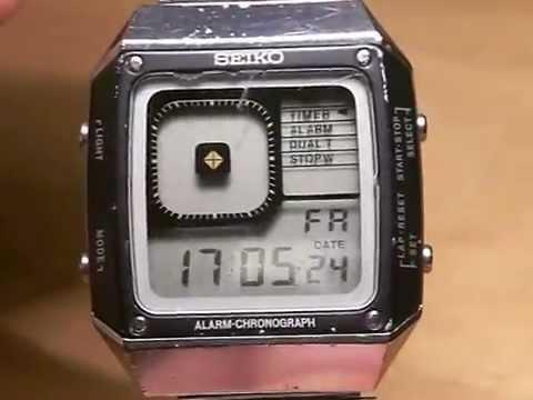 Vintage Seiko Quartz G757-401A Digital Watch - YouTu