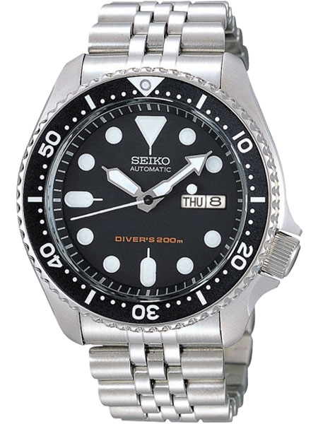 Seiko Automatic Dive Watch with Stainless Steel Bracelet #SKX007