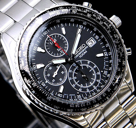 Seiko Flightmaster Pilot - Slide Rule Chronograph - New - - Catawi