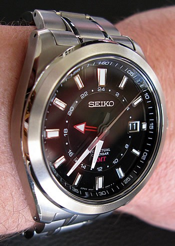 Review of the Seiko SBQJ015 Perpetual Calendar GMT - WatchReport.c