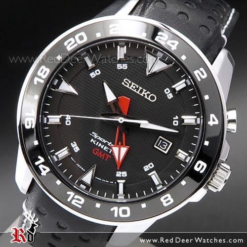 BUY Seiko Sportura Kinetic Automatic Sapphire GMT Mens Watch .