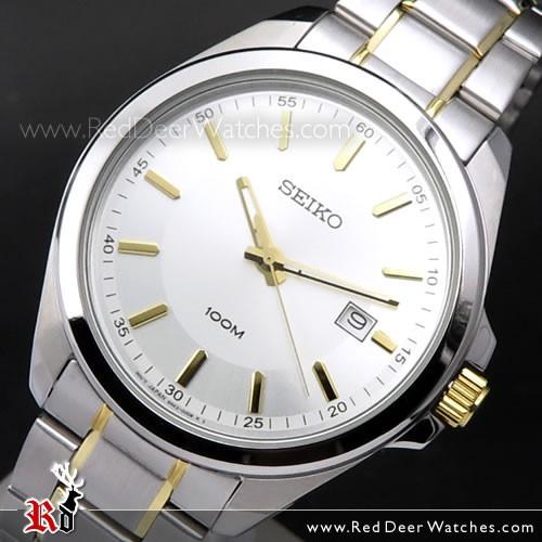 BUY Seiko Quartz 100M Two-Tone Mens Watch SUR063P1, SUR063 - Buy .