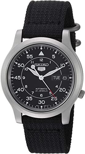 Amazon.com: Seiko Men's SNK809 Seiko 5 Automatic Stainless Steel .
