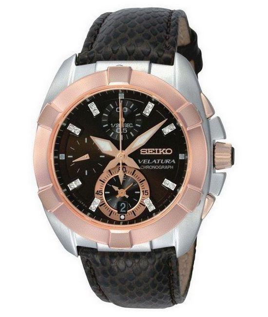Seiko Velatura Chronograph Diamonds Ladies' Watch | Watch Revi