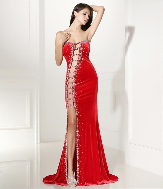 Forevergracedress Sexy Prom Dress New Arrival Beaded Crystals Long .