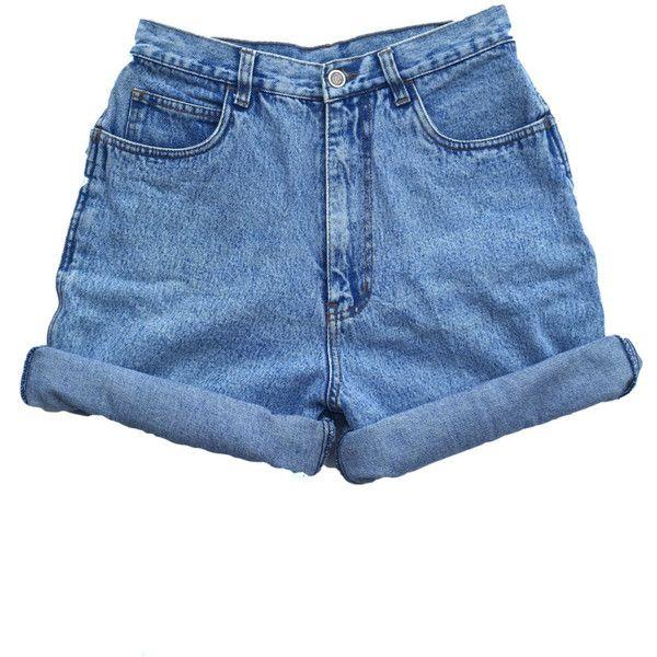 Vintage 90s High Waisted Size 10 Medium Large Shorts Mom Jeans .