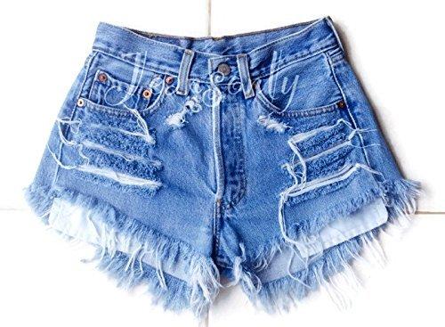 Amazon.com: Levis high waisted denim shorts distressed frayed jean .