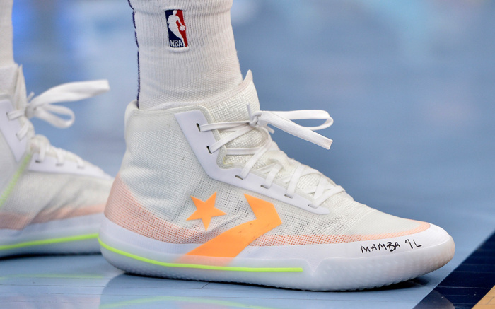 NBA Games Feature Messages to Kobe Bryant on Sneakers – Footwear Ne