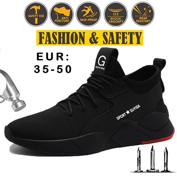 2019 New Fashion Steel Toe Shoes Kevlar Fiber Safety Shoes .