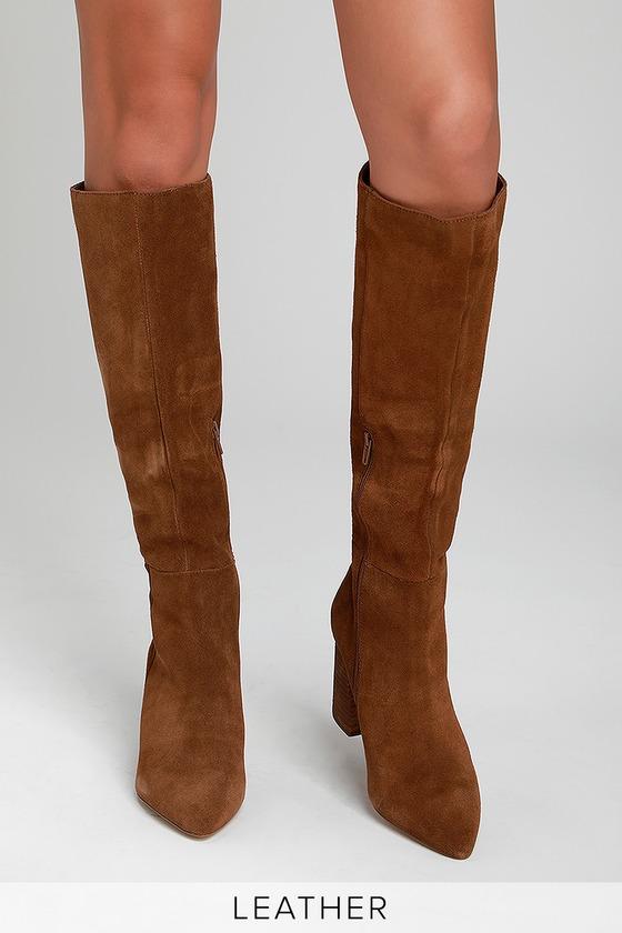 Steve Madden Serve - Chestnut Boots - Knee-High Suede Boo