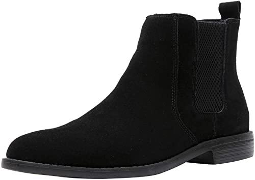 Amazon.com | JIONS Men Chelsea Slip-on Suede Boots Lightweight .