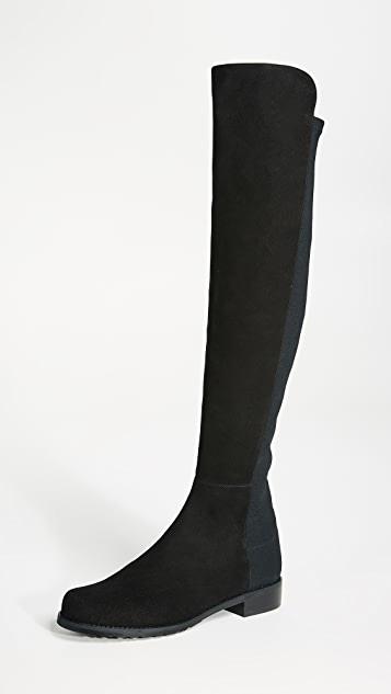 Stuart Weitzman 5050 Stretch Suede Boots | SHOPB