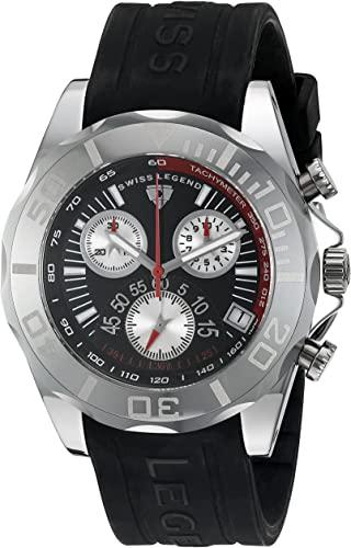 Amazon.com: Swiss Legend Men's 18010-01 Tungsten Chronograph Black .