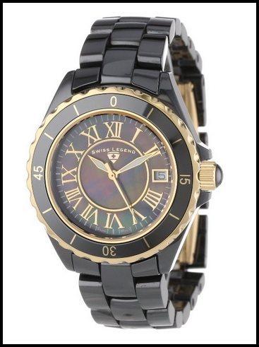 Swiss Legend Women's 20050-BKBGR Karamica Collection Ceramic Watch .