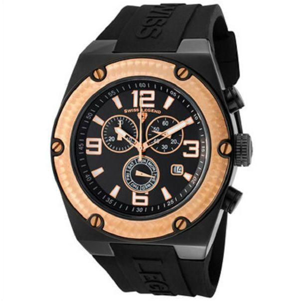 SWISS LEGEND Watch 30025-BB-01-RB Men's Throttle Chronograph Black .