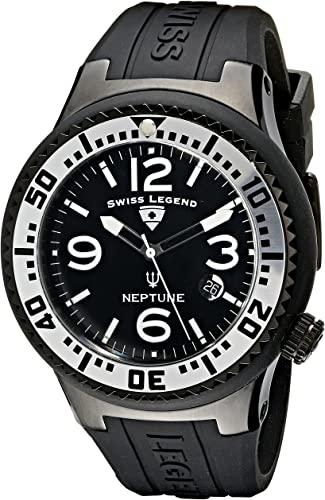 Amazon.com: Swiss Legend Men's 21848P-BB-01-SA Neptune Black Dial .