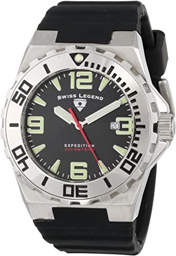 Amazon.com: Swiss Legend Men's 10008-01 Expedition Black Dial .
