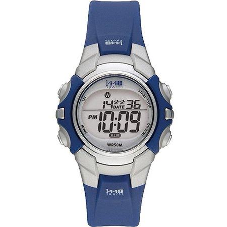 Timex - Timex Women's T5J131 1440 Sports Digital Blue Resin Strap .