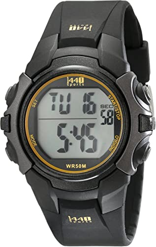 Timex Men's T5K457 1440 Sports Digital Black Resin Strap Watch .