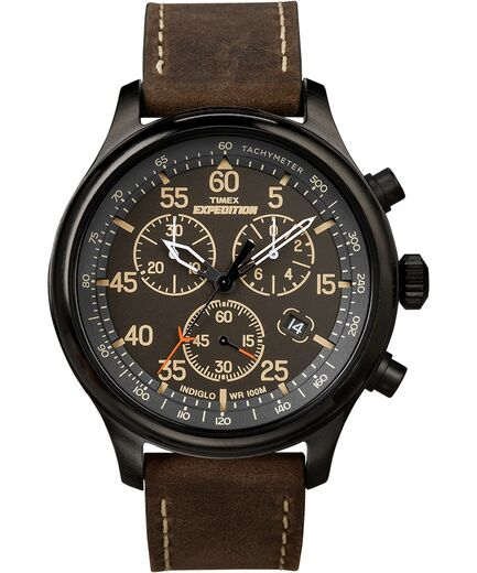 Expedition Field Chronograph 43mm Leather Watch | Tim