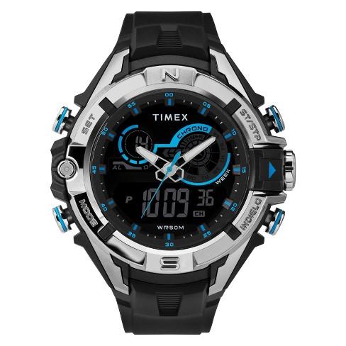 Men's Timex Analog-Digital Chronograph Watch - Black TW5M23000JT .