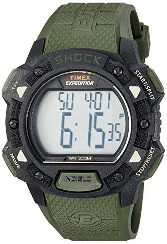 Men's Timex Expedition Digital Shock Green Band Watch TW4B093