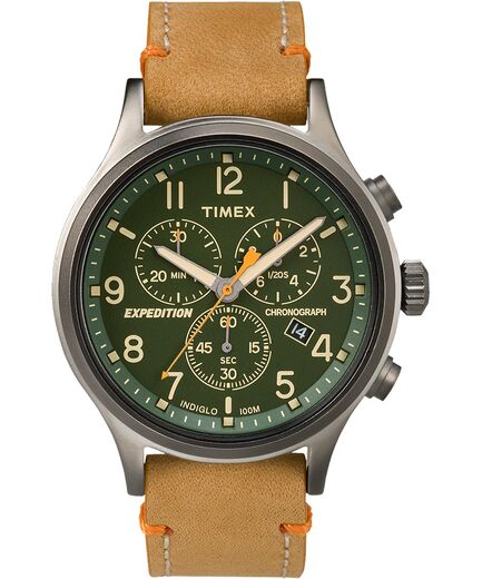 Expedition Scout Chronograph 42mm Leather Watch | Tim