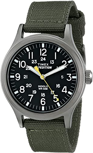 Amazon.com: Timex Men's T49961 Expedition Scout 40 Green Nylon .