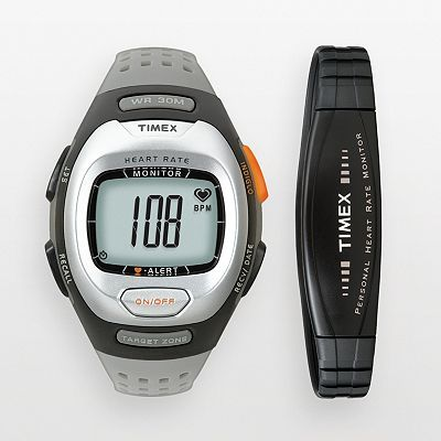 Timex Personal Trainer Resin Heart Rate Monitor Digital Watch .