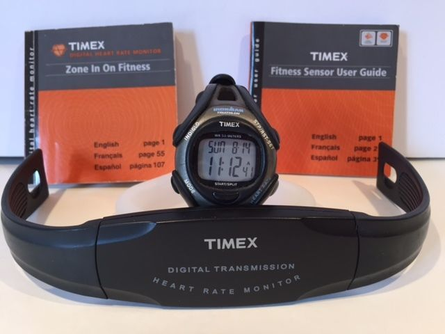 Timex - Ironman Triathlon Heart Rate Monitor Watch 30 Laps Calorie .