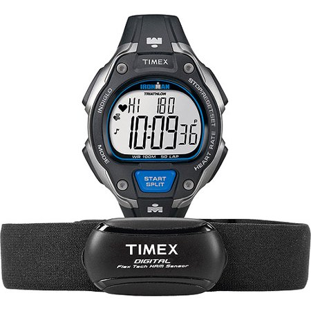 Timex Men's Ironman Road Trainer Digital Heart Rate Monitor Watch .