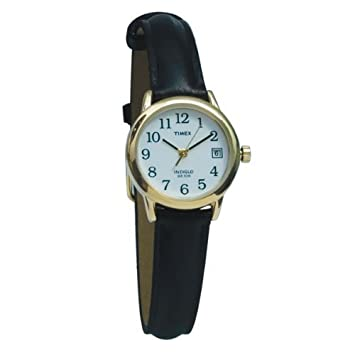 Amazon.com: Timex Indiglo Watch Ladies Gold with Leather Band: Beau