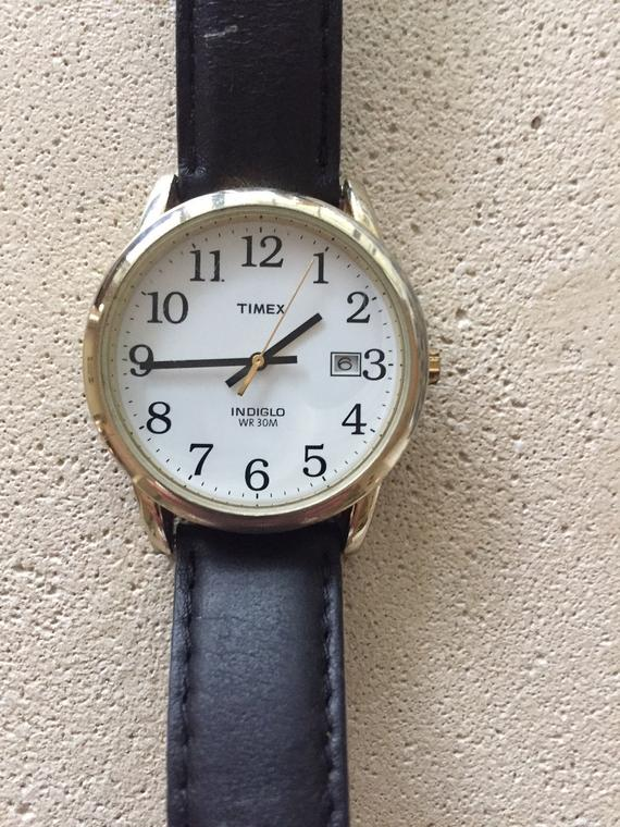 TIMEX indiglo mens watch w/date w/r30m 38mm NEW premium | Et