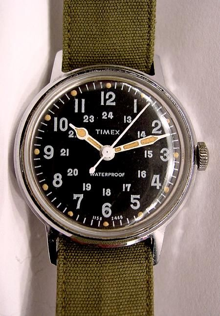 Vintage Timex Watch Watches Military Marlin 50s Diver | Timex .