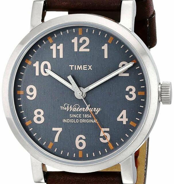 Timex Originals Tw2p74900 Mens Originals Modern Tan Leather Strap .