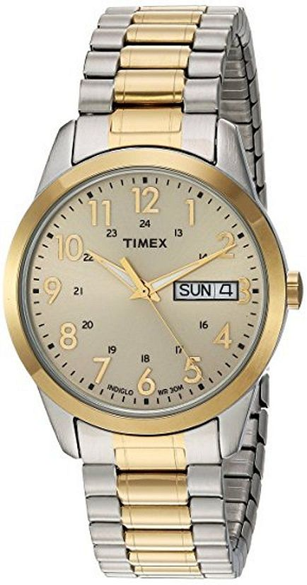 Men's Timex South Street Sport Two Tone Expansion Band Watch .