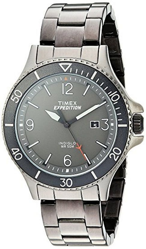 Men's Timex Expedition Ranger Grey Steel Link Band Watch .