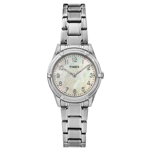 Women's Timex Watch - Silver/Mother Of Pearl TW2P76000JT : Targ