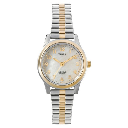 Women's Timex Expansion Band Watch - Two Tone/Mother Of Pearl .