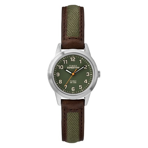 Women's Timex Indiglo Expedition Field Watch With Nylon/Leather .