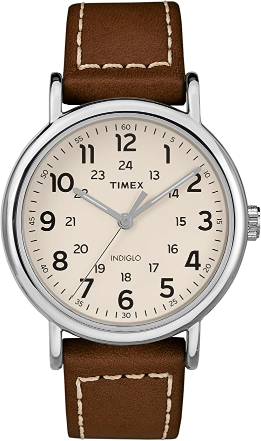 Amazon.com: Timex Men's TW2R42400 Weekender 40mm Brown/Cream Two .