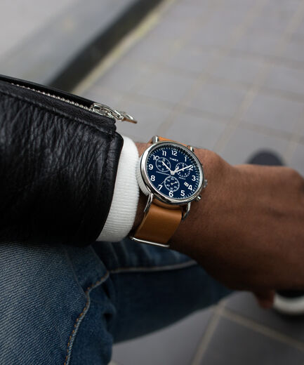 Weekender Chrono 40mm Leather Watch | Tim