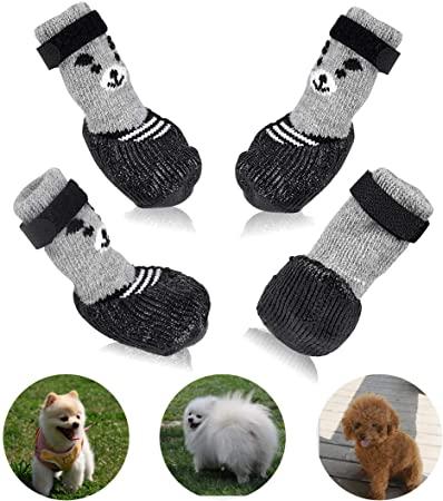 Amazon.com : BESUNTEK Dog Boots, Dog Cat Boots Shoes Socks with .