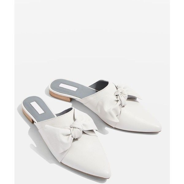 Topshop Kara Pointed Flat Mules ($32) ❤ liked on Polyvore .