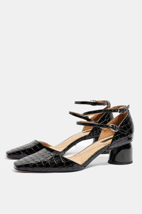 Womens Jackpot Two Part Court Shoes - Black, Black from Topshop .