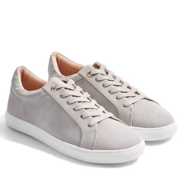 Topshop Shoes   Cookie Low Top Sneakers Grey Shoe Size 38   Poshma