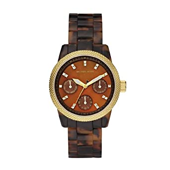 Amazon.com: Michael Kors Women's MK5399 Ritz Tortoise Watch .