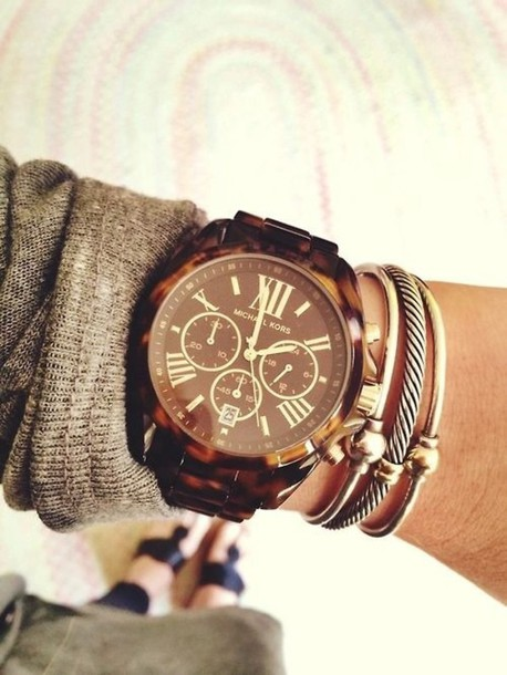 jewels, bracelets, michael kors watch, tortoise shell, micheal .